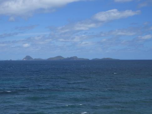 Kurz vor Sauteurs ein Blick auf die Grenadinen - traumhafte Karibik