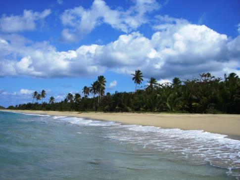 Traumhaftes Panorama am Levara Beach im Norden von Grenada