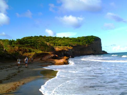 Die Antoine Bay an der Ostküste von Grenada während des Hash Nr 798