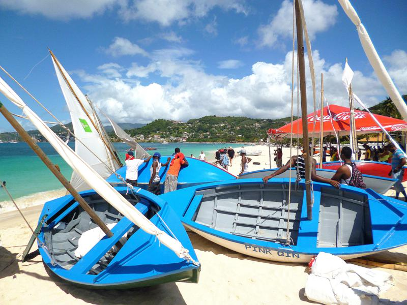 Grenada Workboat-Regatta – bunt, bunter, Karibik