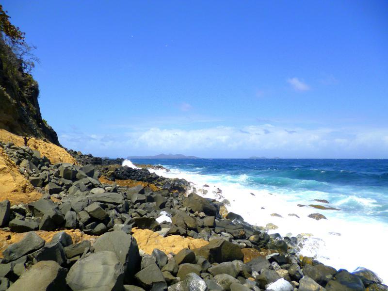 Die raue Atlantikküste von Sandy Island