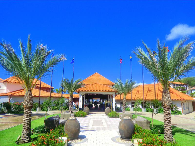 Der große Eingangsbereich des Resorts