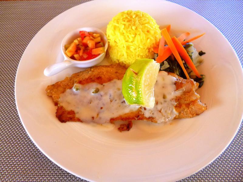 Mittagessen im Neptunes Restaurant im La Source Grenada