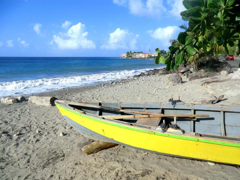Der Strand südlich der Stadt Gouyave