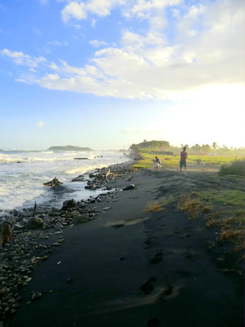 Der Strand an der Pearls Bay