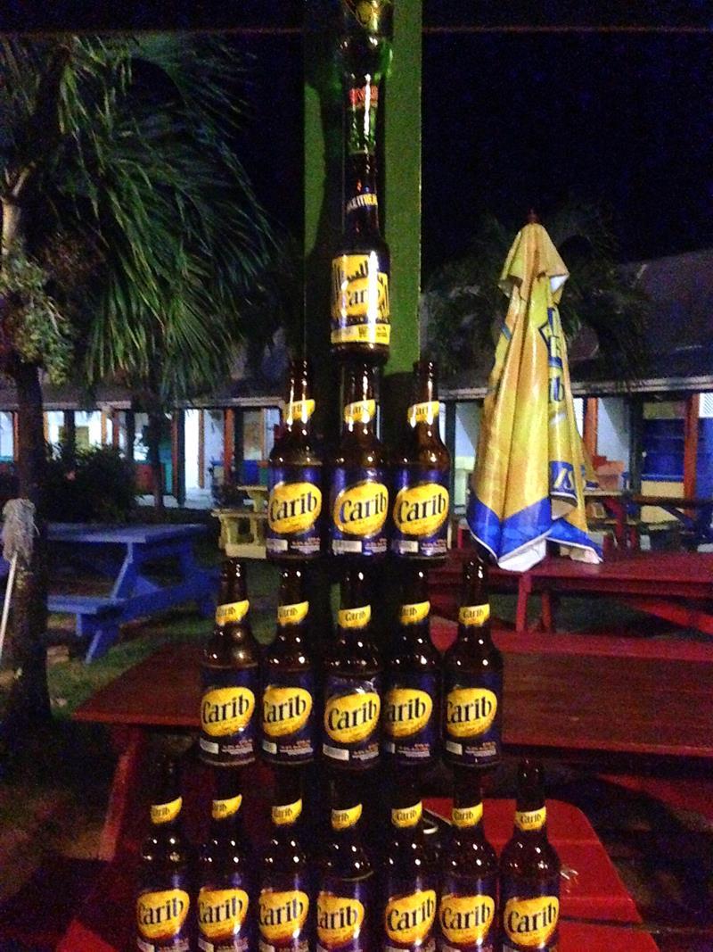Carib, das Nationalgetränk auf Grenada
