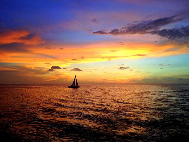 Toller Sonnenuntergang auf Grenada
