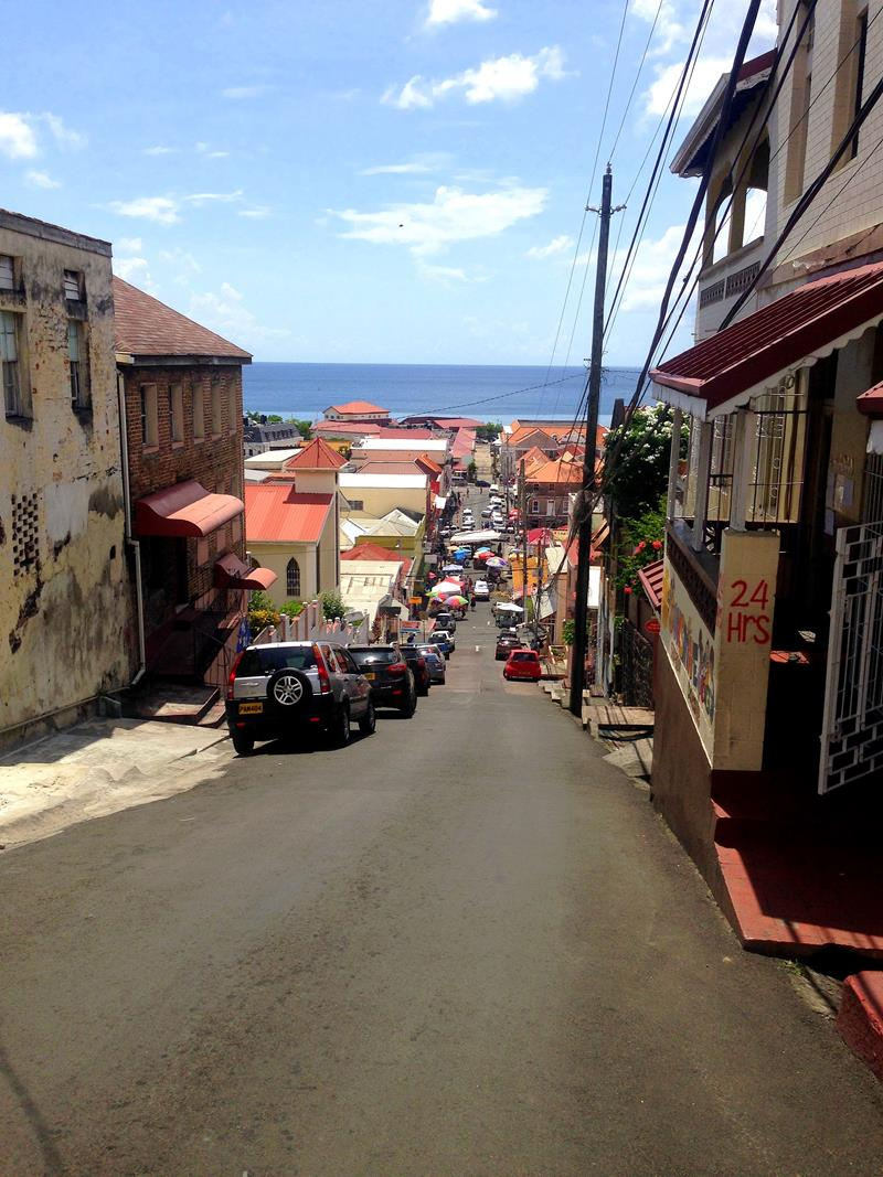 Die Hauptstadt von Grenada, St. Georges