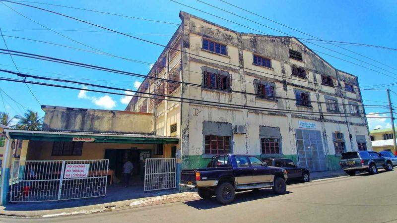 Die Muskatnussfabrik von Grenada in Gouyave