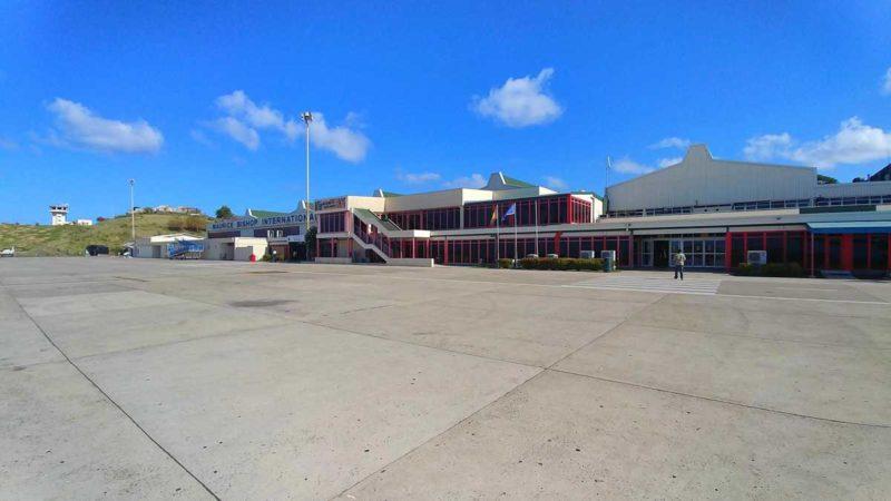 Der Maurice Bishop International Airport auf der kleinen Insel Grenada