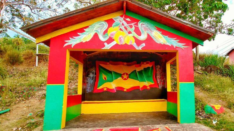 Die Nationalfarben von Grenada bestimmen das komplette Leben auf der Gewürzinsel