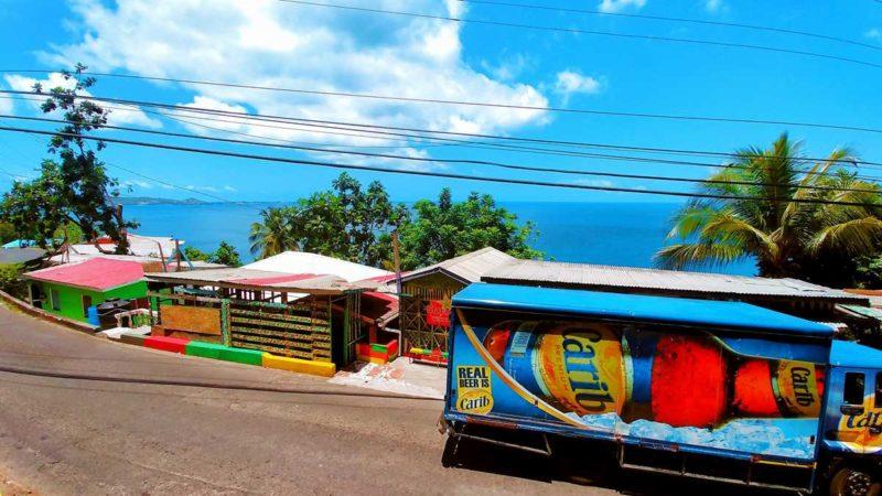 Ein toller Aussichtspunkt an der Westküste von Grenada, in der Nähe von Happy Hill