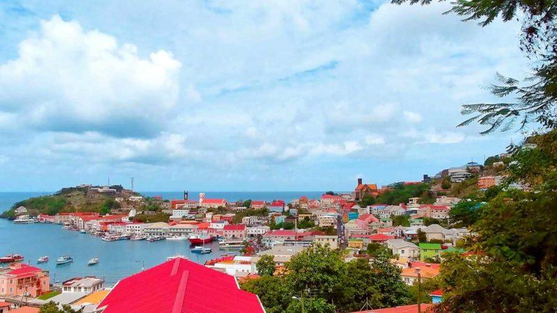 Ausblick auf die Hauptstadt von Grenada, St. George's
