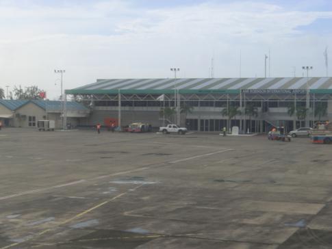 Der internationale Flughafen von Tobago