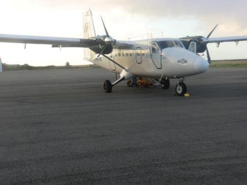 Eine DHC6 Twin Otter der Fluggesellschaft Grenadine Airways