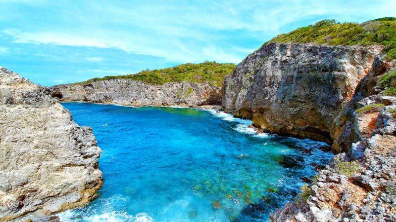 Caye Plate im Norden von Marie-Galante, einer Insel im Guadeloupe-Archipel