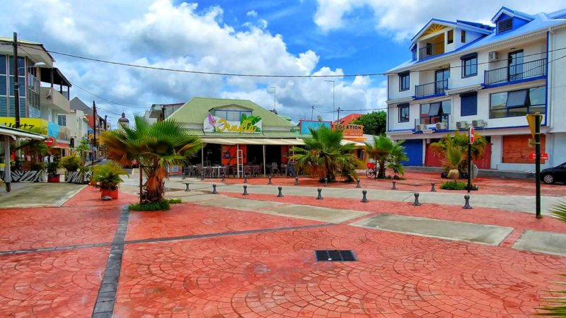 Das Zentrum von Marie-Galante im Süden Guadeloupes, Grand-Bourg