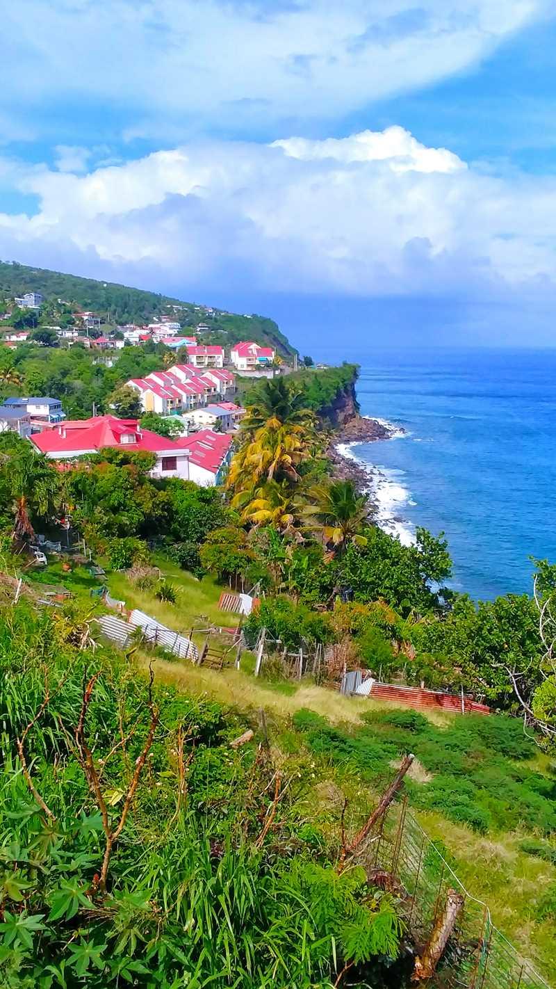 Die Südküste von Guadeloupes Inselteil Basse-Terre