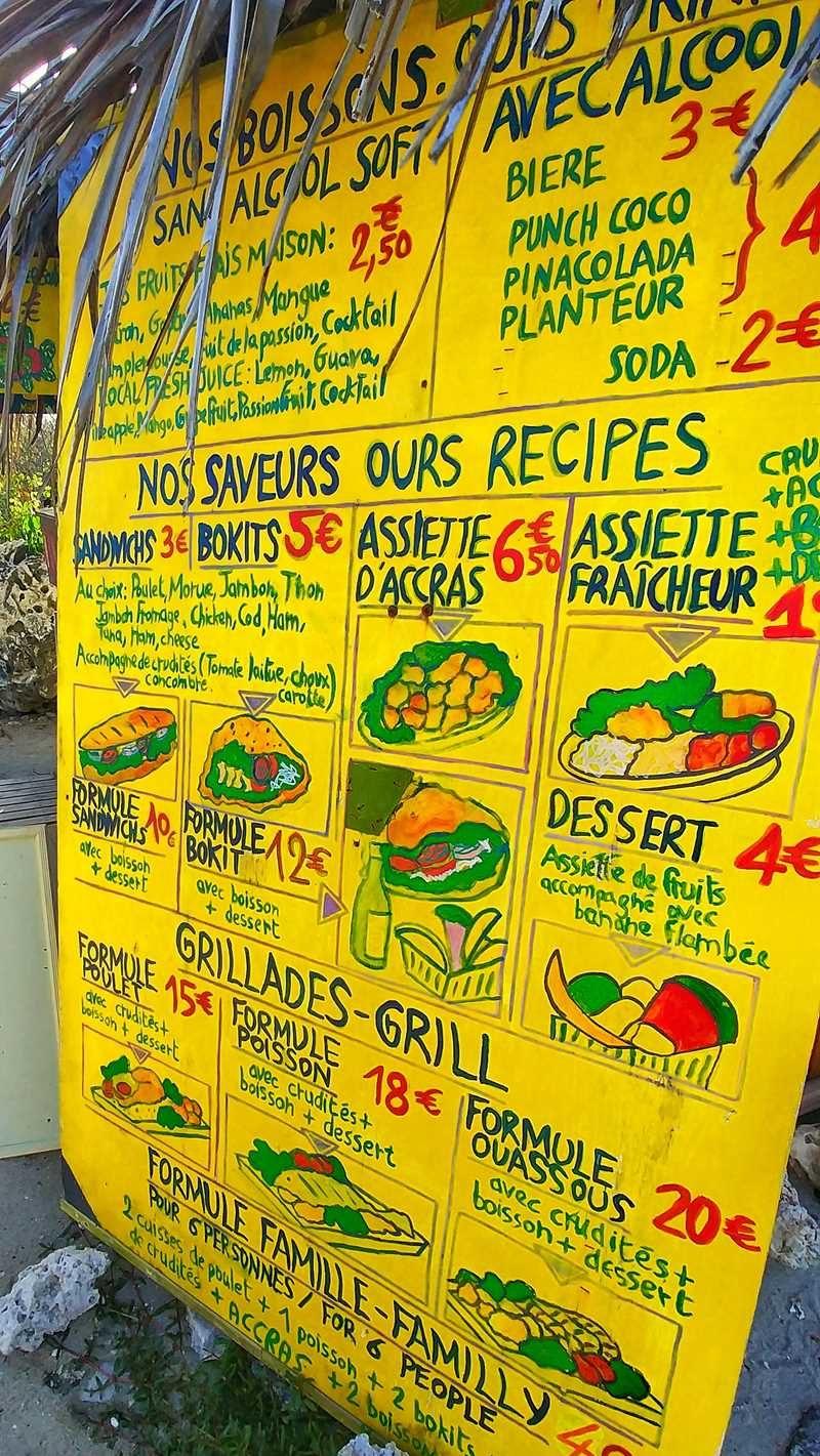 Kreolisches Essen gibt es überall auf Guadeloupe