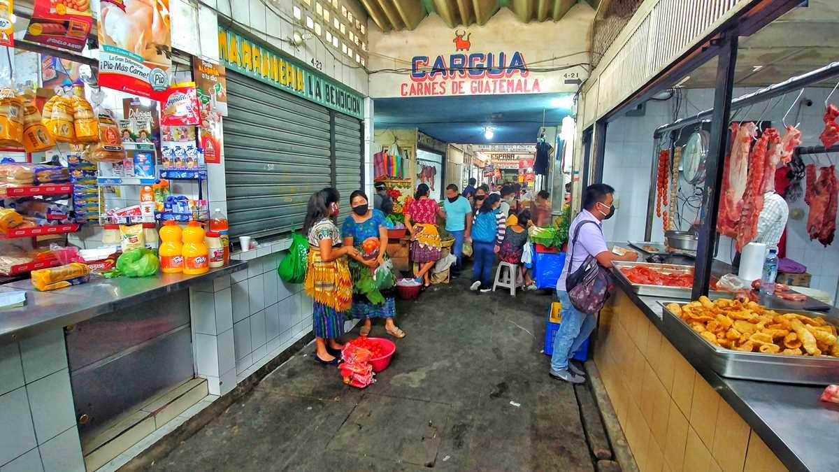 Der tägliche Markt von Antigua in Guatemala