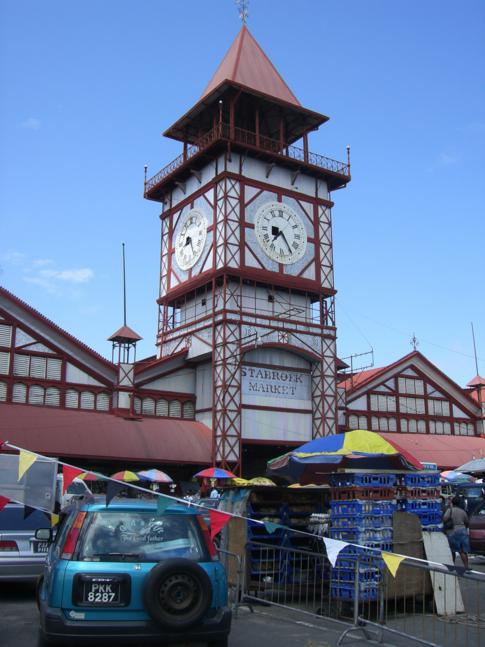 Der Starbroek Market von Georgetown, zentraler Punkt in der Hauptstadt Guyanas