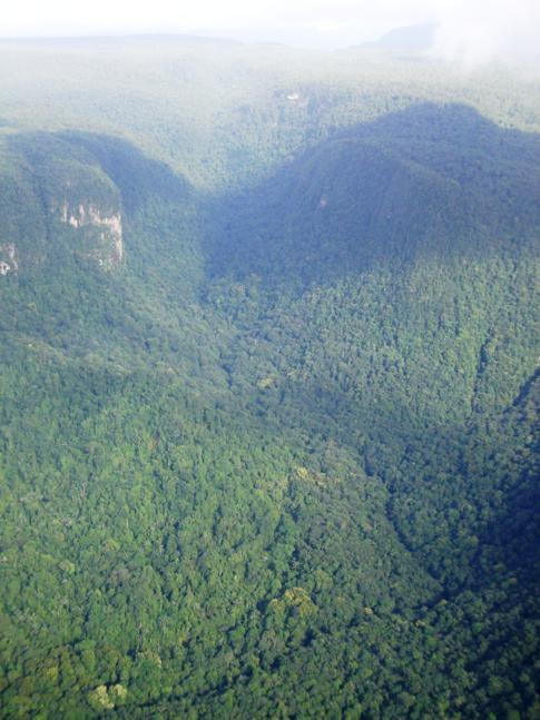 Mächtiges Massiv im Roraima-Gebirge von Guyana