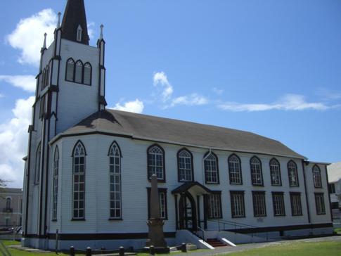 Eine weitere Holzkirche in Georgetown, die St. Andrews Kirk