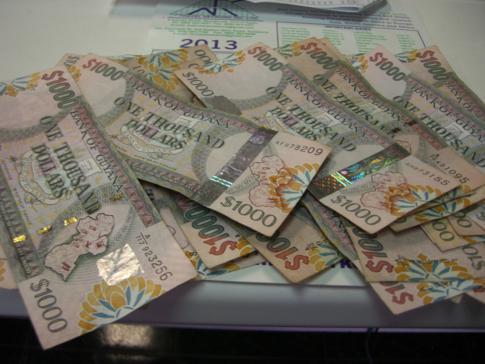 Bargeld in Guyana - der Guyana-Dollar, ein nicht gerade hochwertiges Zahlungsmittel