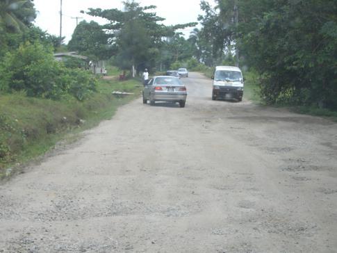 Die Straße von Bartica nach Potaro
