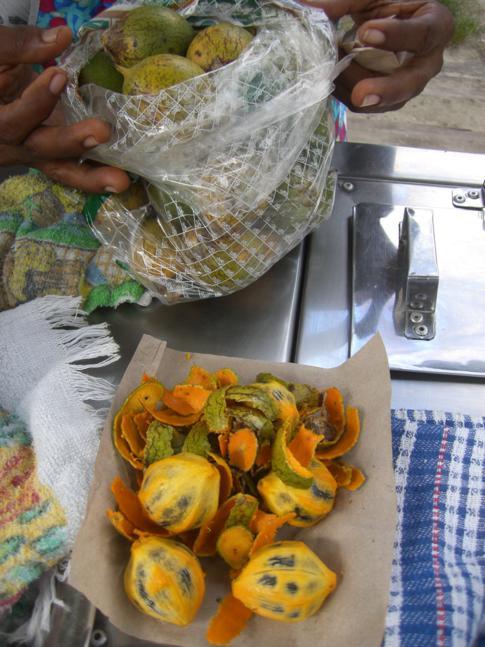 Eine vor allem in Brasilien bekannte Cuju-Frucht