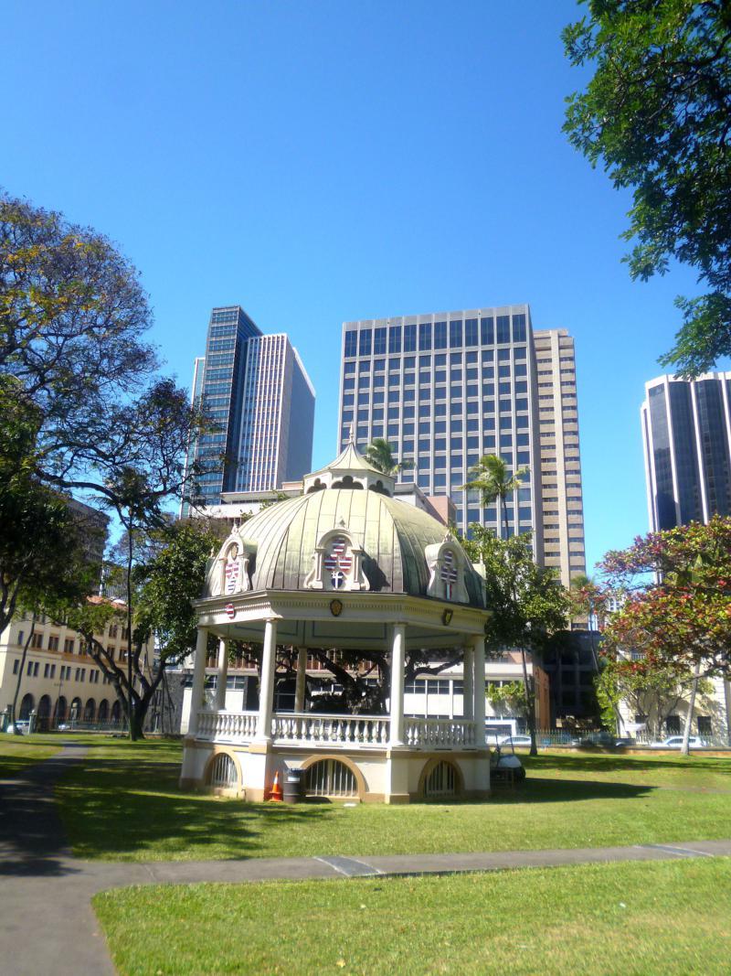Downtown Honolulu, die Hauptstadt von Hawaii