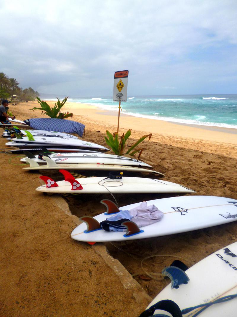 Die North Shore von Oahu ist eines der berühmtesten Surfreviere auf Hawaii