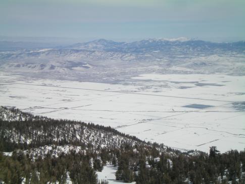 Blick vom Milkyway Bowl auf Nevada
