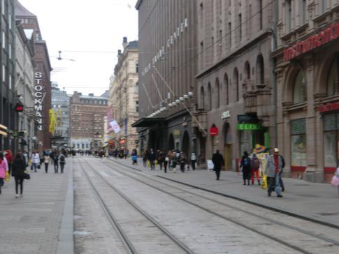 Die Fußgängerzone im Zentrum von Helsinki