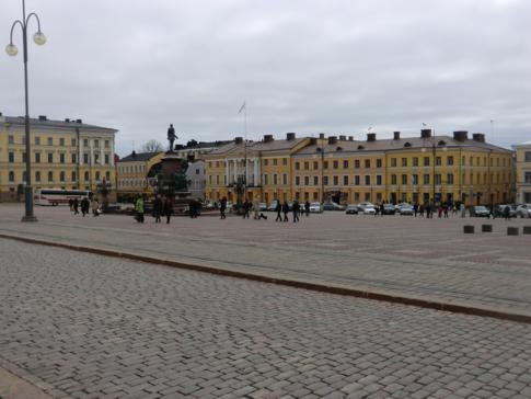 Der Senatsplatz in Helsinki, der Senaatintori