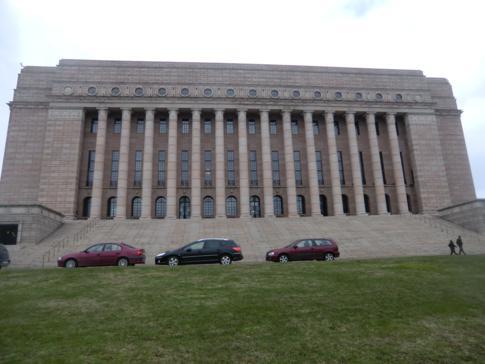Das Parlament von Finnland im Zentrum von Helsinki