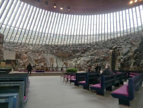 Die Temppeliaukio-Kirche in Helsinki