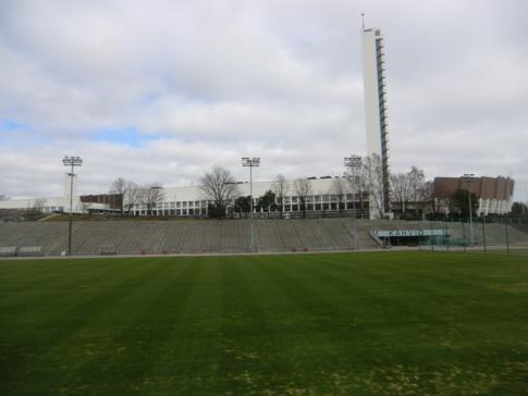 Das Olympiastadion im Sportkomplex von Helsinki