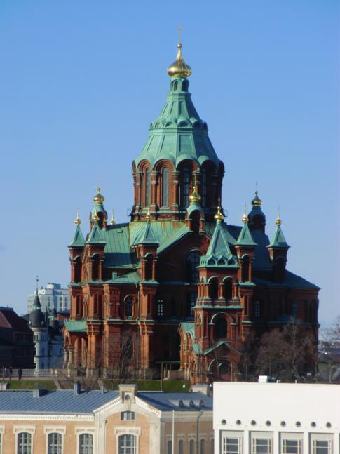 Die Uspenski-Kathedrale, neben dem Dom eines der Wahrzeichen der Stadt