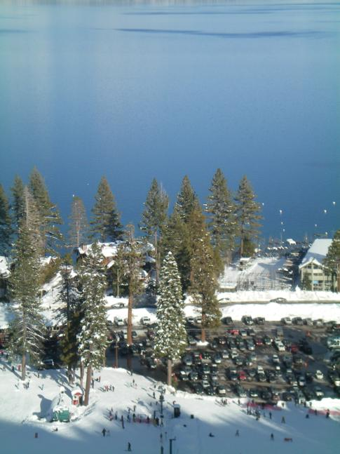 Der North Parking Lot von Homewood direkt am Lake Tahoe