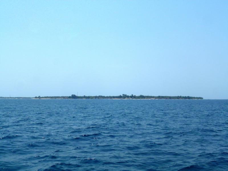 Blick auf Gili Air, eine der drei Gili Islands