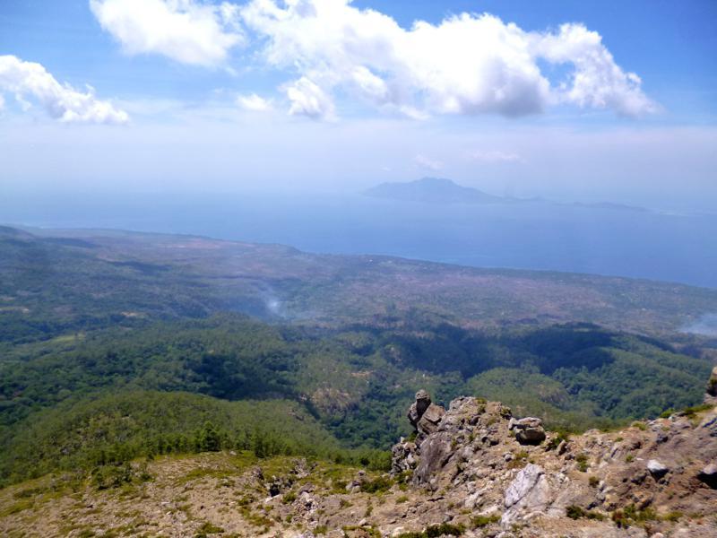 Blick vom Gunung Egon auf die Nordküste von Flores