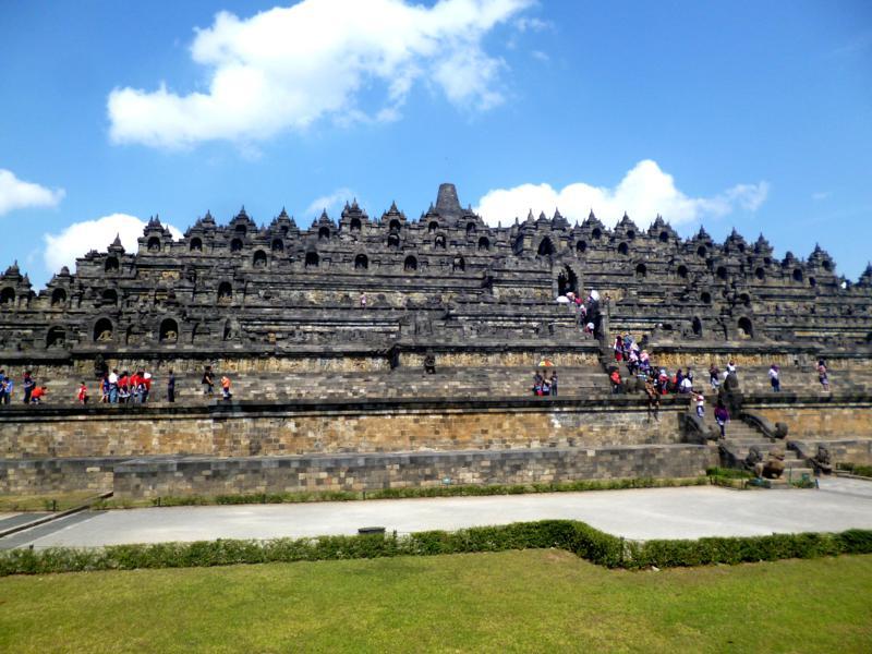Borobodur - eine der beiden Unesco-Weltkulturerbe bei Yogyakarta