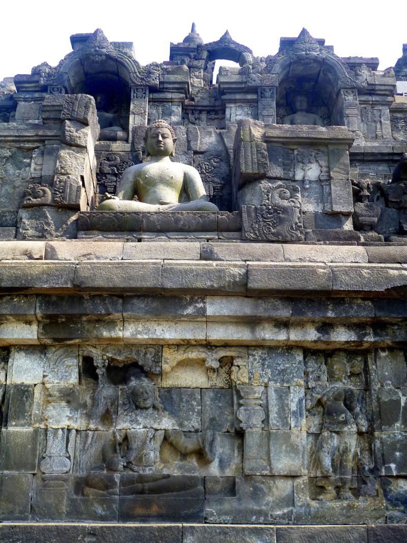 Borobodur - einer der beeindruckenden Unesco-Tempel nahe Yogyakarta