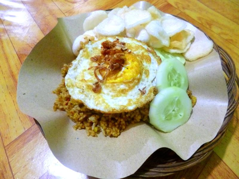 Ein klassisches Nasi Goreng - quasi das Nationalgericht von Indonesien