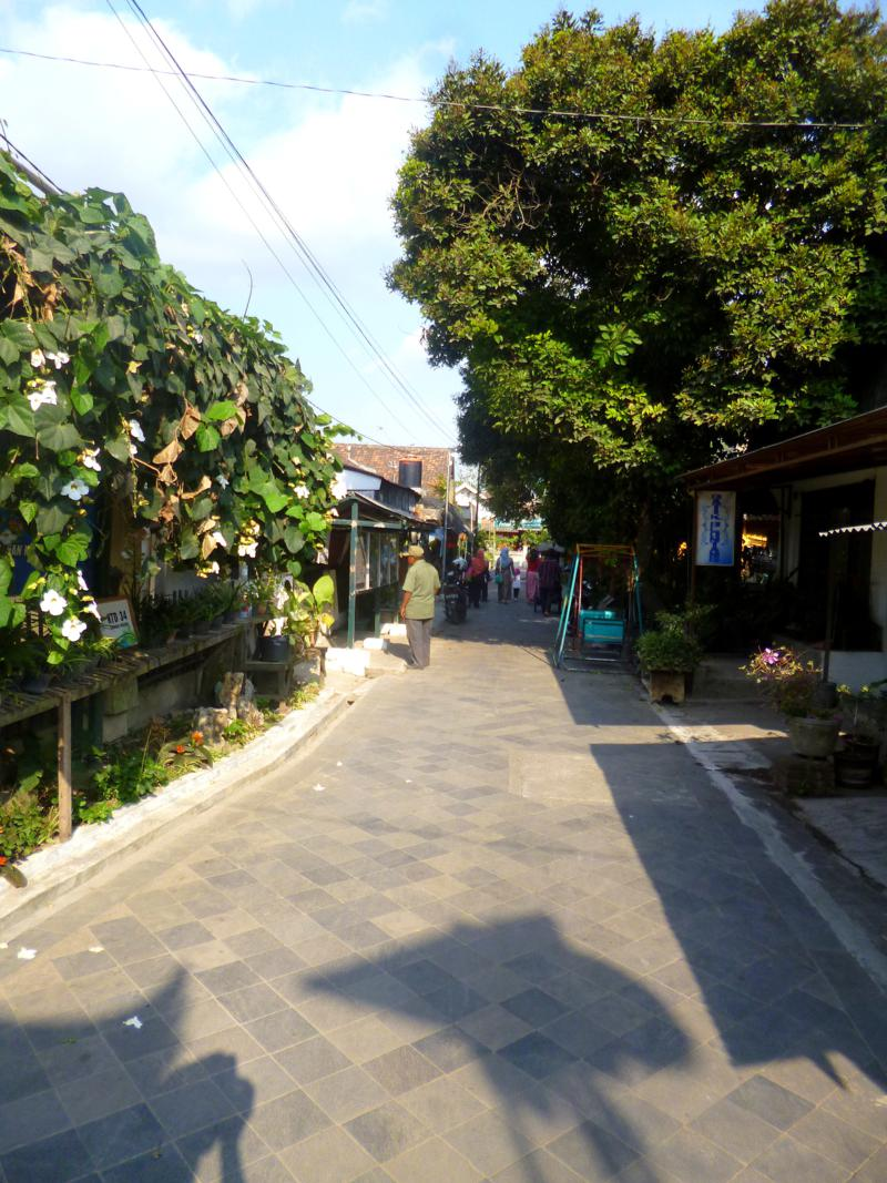 Die Gegend rund um den Kraton in Yogyakarta auf Java