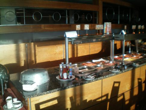 Das Frühstücksbuffet im Hilton Isle of Man