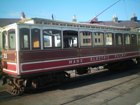 Die Manx Electric Railway in Ramsey