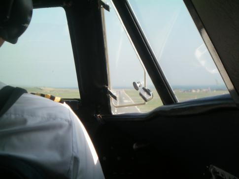 Anflug auf die Isle of Man während eines Fluges mit Manx2