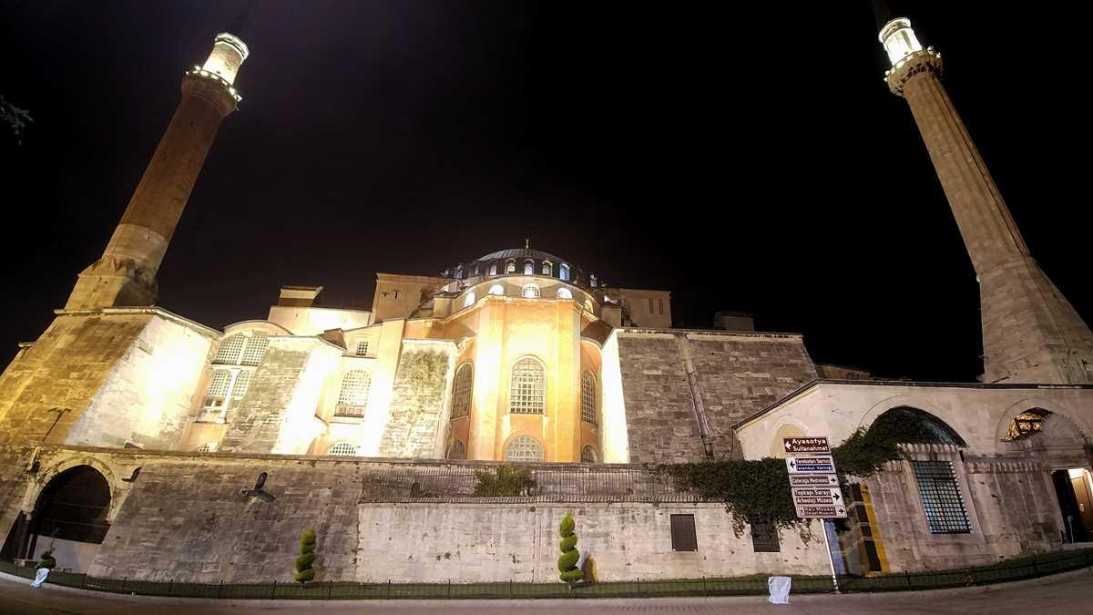 Die Basilika Hagia Sofia in Istanbul